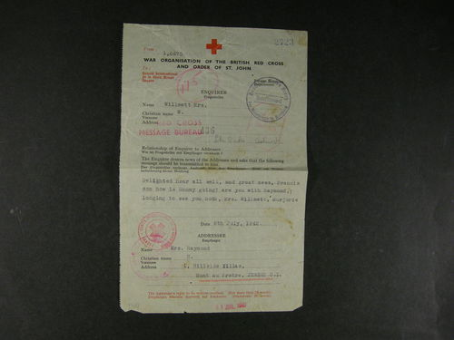 Britain Channel Islands. Cover. Red Cross. 4 forms from Guernsey and Jersey 1942-43, censorred. (4)