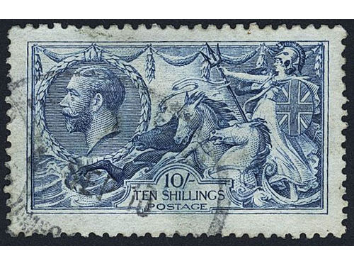 Britain. Michel 141-43 II used, 1915 Sea Horses by De La Rue SET with all shades, except the pale blue due to SG (9). SG 405-12. A few short perfs, two extra 2s6d.