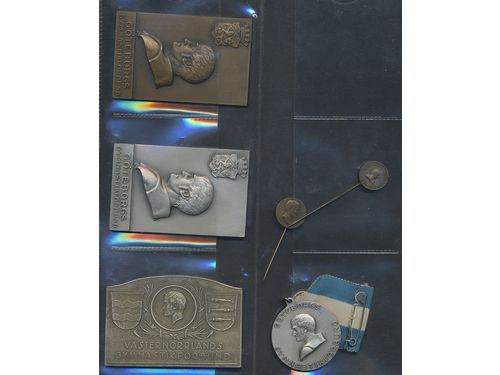 Medals, non-regal, Sweden. Per Henrik Ling (1736-1839). Group lot of medals and plaquettes in various metals incl. some in silver. Mixed grades.