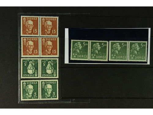Sweden. **. Six different BC/CB-pairs with wide margins incl. 266+267BC/CB and Bellman BC+CB.