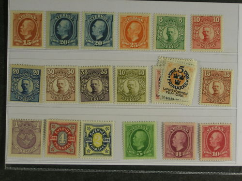 Sweden. ** 1891–1916. All different, e.g. F 55-56, 66-67, 75-76, 85, 88-90, 105-14. Mostly good quality. F SEK 8.075 (27)