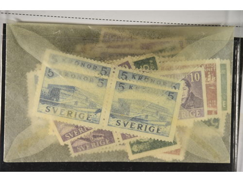 Sweden. * 1938–41. 87 BC/CB-pairs. Many from the Castle, Berzelius and more. Very high catalogue value. Wide margins. Mostly good quality. (87 pairs)