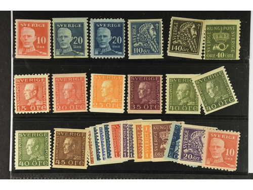 Sweden. * 1920–36. All different for example F 149A, 151A+C, 154-55, 159, 177C, 180a, 184, 187a, 189, 190a+b, 191a. Mostly good quality. F SEK 5.020 (28)