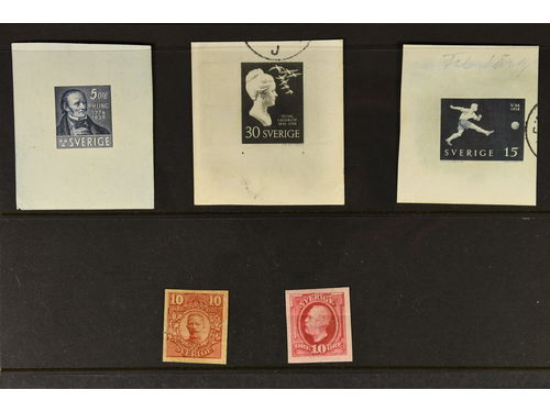 Sweden. Lot (*). Five imperforate proofs.