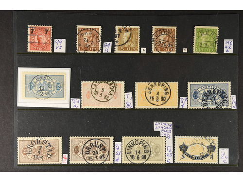 Sweden. Lot used. 25 diff. stamps. Mixed quality.