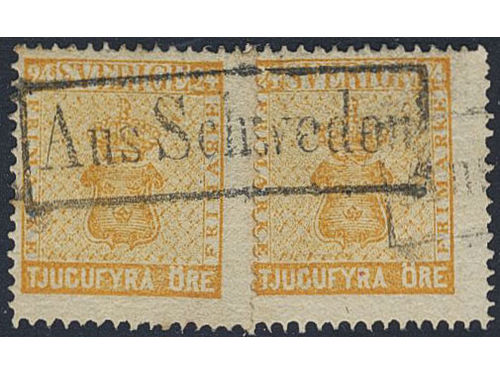 Sweden. Facit 10(2). 24 öre with very beautiful cancellation