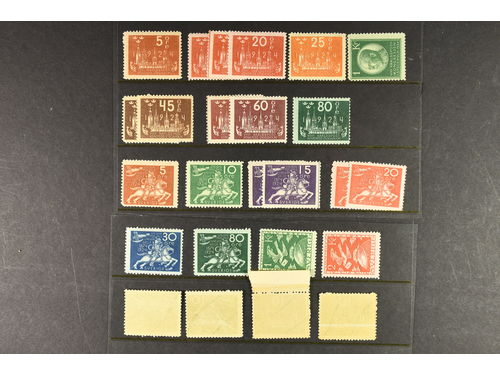 Sweden. **. 25 copies WPC and UPU 1924 incl. e.g. F206-08, 224-24, 197 and 212cx etc. incl. some dupl. Facit 13500.-.