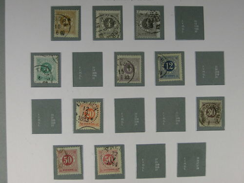 Sweden. Collection used 1858–1949 in Verbis album with stamp mounts Mixed quality.