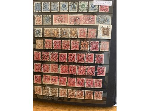 Sweden. Stämplar. Visir binder with Town cancellations L-N incl. several beautiful Coat-of Arms - 1980's. (>1600)
