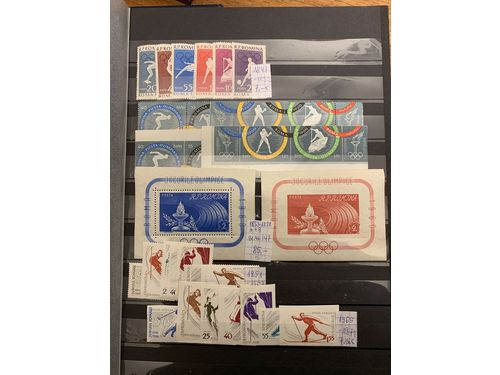 Romania. **. Collection 1960-92 in stockbook. Containing e.g. about 120 souvenir sheets incl. many better, several sets and imperforated issues. (>900)