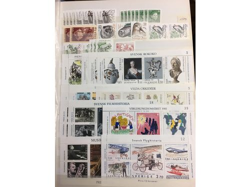 Sweden. Nominalparti. Stockbook with dupl. mostly 1966-2001. Face value ca 4100.