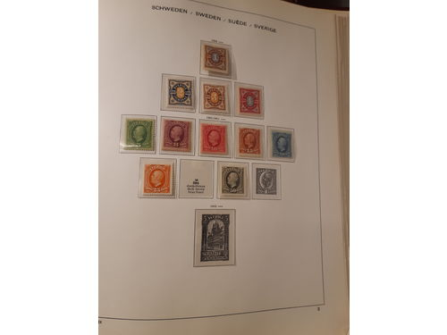 Sweden. Collection **/* 1886–1960 in Schaubek album Mostly good quality. (500)