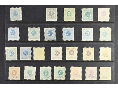 Sweden. Used. Circle type, 25 ex. with set-off.