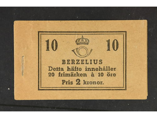 Sweden. Booklet Facit H40BC **,, 1939 Royal Academy of Sciences 20 × 10 öre violet, perf on three and four sides. 2 very small tears. SEK17000