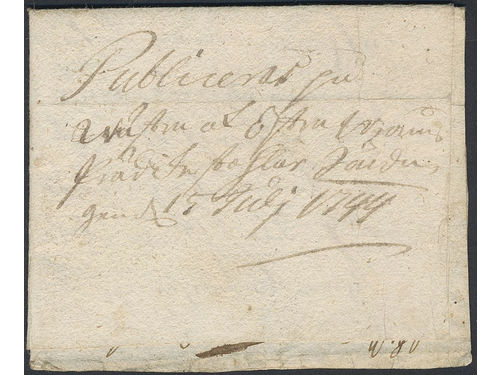 Sweden. Kronopost. Early letter dated