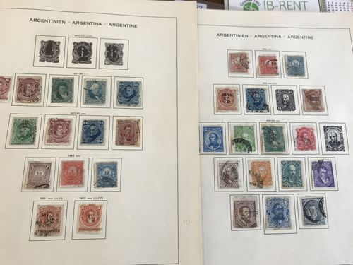 Argentina. Used. Collection 1867-1963 on leaves incl. e.g. some better Air and Back-of the book etc. (650)