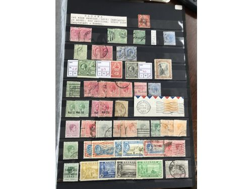 Bahamas. **/*/¤. Coll/accumulation 1860-1983 on leaves incl. some better early stamps, many sets and few covers etc. (320)