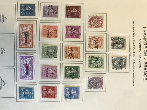 Andorra (French post). */¤. Collection 1931-70 on leaves incl. Mi16-20* and 103-60 mostly *. Also minor. coll. Spanish Andorra. (280)