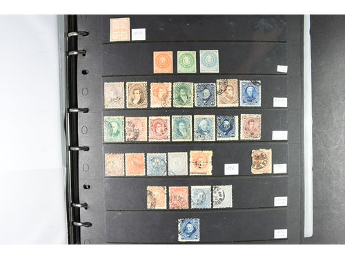 Argentina. Collection used 1862–1990. In 2 well filled visir albums.
