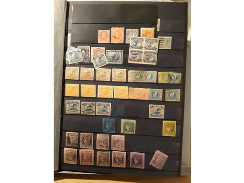 Argentina. Collection/accumulation **/*/¤ classics–2000 in four stockbboks in box. Sorted duplicates incl. some reprints and souvenir sheets. Low reserve. (1500)