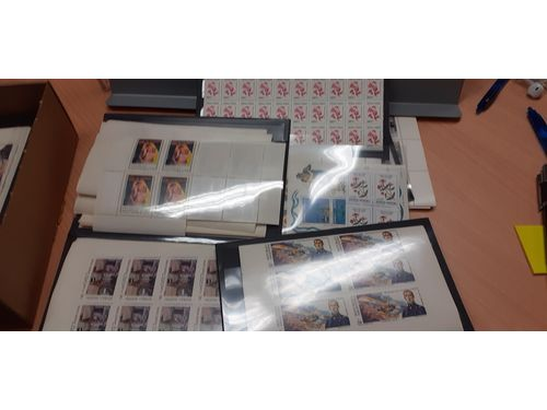 Argentina. Accumulation ** 1985–93. Mainly complete sets in sheets of part sheets incl thematic interest, e.g. flowers, history, paintings, airplane etc. Very high catalogue value! Fine quality. (Thousands)