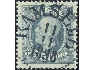 Sweden. Facit 59 used , 1891 Oscar II 50 öre grey. EXCELLENT cancellation RAMSELE …