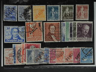 Germany Berlin. Used 1948–54. All different, e.g. Mi 13, 15, 27, 36, 38-39, 63, 67, 74, …