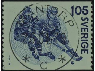 Sweden. Facit 1070 used , 1979 Bandy 1.05 Kr blue-lilac. EXCELLENT cancellation MANTORP …