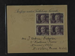 Sweden. Facit 227. GERMANY. German cancellation DEUTSCHE SEA POST on cover franked with …