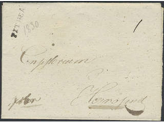 """Sweden. BD county. PITHEÅ, straight postmark. Cover dated """"1830"""" in pencil, sent to …"""
