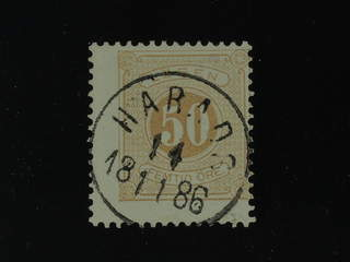Sweden. Postage due Facit L19d used , 50 öre yellowish orange-brown, perf 13. Superb …
