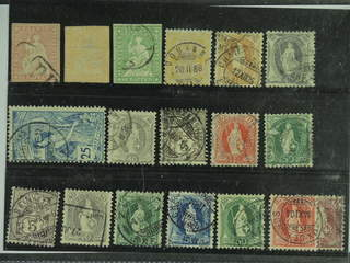 Switzerland. Used 1854–1906. All different, e.g. Mi 15-17 II, 56, 64, 68, 73, 77, and …