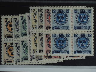 Sweden. Facit 126–35 ★★ , 1916 Landstorm III SET (10). SEK3000