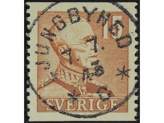 Sweden. Facit 275 IA used , 1942 Gustaf V large numerals 15 öre brown, die I. EXCELLENT …