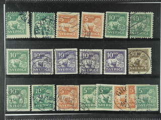 Sweden. Used 1920-34. Standing Lions, All different, e.g. F 140C+Ccx, 141bz, 142Ecxz, …