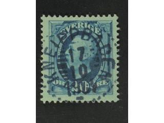 Sweden. Facit 56 used , 1891 Oscar II 20 öre blue. EXCELLENT cancellation KEIPPBADEN …