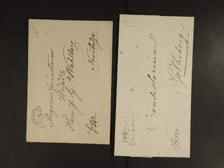Sweden. A county. STOCKHOLM FR.BR. General mail. Type 4 on two covers sent to Gothenburg …