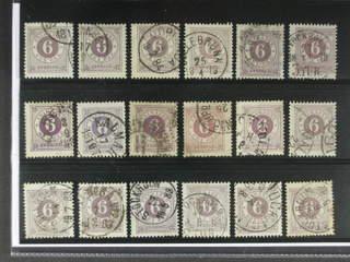 Sweden. Facit 31 used , 6 öre violet, eighteen used copies. Shades, varieties, …
