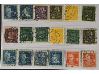 Sweden. Used 1920–36. Coil-stamps, All different, e.g. F 151Cbz, 152Acx, 153, 155bz, …