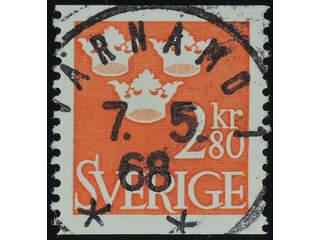Sweden. Facit 315 used , 1967 Three Crowns 2.80 Kr red. EXCELLENT cancellation VÄRNAMO 1 …