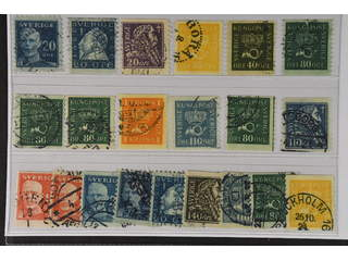 Sweden. Used 1920–36. Coil-stamps, All different, e.g. F 151Cbz, 152Acx, 153, 156cxz, …