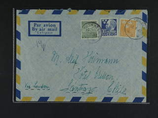 Sweden. Air mail cover Facit 294, 368, 373 , 5+30 öre + 1 kr on air mail cover sent from …