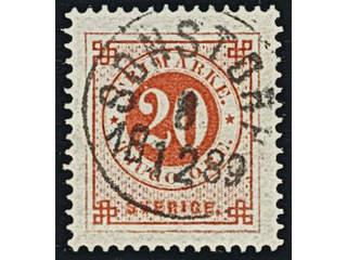 Sweden. Facit 46 used , 20 öre red. EXCELLENT cancellation SONSTORP 8.12.1889.