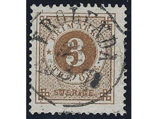 Sweden. Facit 28c used , 3 öre dark orange-brown. Superb cancellation FRÖLUNDA …