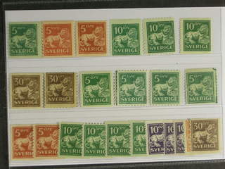 Sweden. ★ 1920-34. Standing Lion, All different, e.g. F 140Acx, 141, 142Acc, …