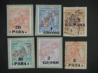 Albania Shkodër. Michel 1–5 ★ , 1915 Skanderberg overprints 5para-2gr. All x but 10p, …