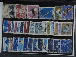 Switzerland. Used 1944-54. All different, e.g. Mi 506, 533 I, 548-49, 553, 558-59, …