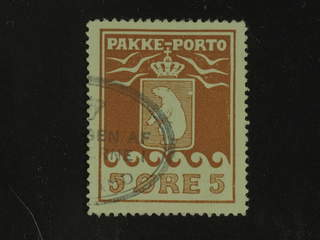 Denmark Greenland. Facit P6 II used , 5 øre red-brown. Part of oval cancellation. …