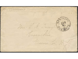 Bermuda. Unpaid cover with contents dated Hamilton Christmas 1875, sent to New Jersey, …
