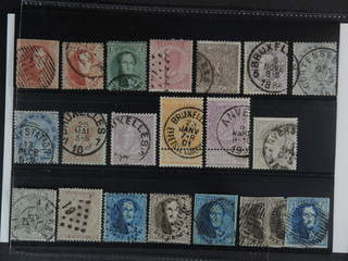 Belgium. Used 1851-1884. All different, e.g. Mi 9 II, 10B, 13B, 40, 22, 33, 37, 46-47,. …